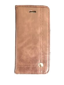 Phone Flip Case Iphone 5/5S/SE Leather Style Card Wallet Book Cover Brown