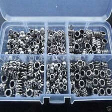 Jewellery Making Bail Bead  Kit - Tibetan Silver - 175 Random Pieces
