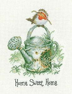 HERITAGE CRAFTS HOME SWEET HOME COUNTED CROSS STITCH KIT ROBIN UNDERHILL NEW