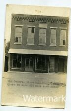 1920s real photo postcard Pleasantville Indiana store exterior Sullivan County