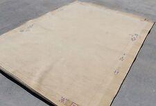 T67 Neutral Colored Woolen Contemporary Handmade Tibetan Area Rug  6.7' X 9.8'