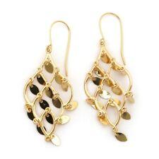 """14k Yellow Gold Shiny Chandelier Dangle 1.9"""" Earrings"""