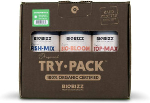 BioBizz Try Pack Outdoor, Stimulant & Hydro Hydroponic Nutrients