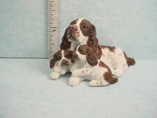 Dollhouse Miniature English Springer Spaniel  Dog & Puppies #A3406BR