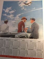 V1b Ephemera 1940s Ww2 Advert Daimler Spitfire Fly Past 1945 Calendar
