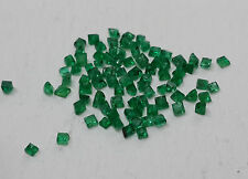 AAA Quality Natural Green Emerald Square 2.00cts 85pc 1.30-1.80mm Non-treated