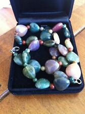 Unbranded Agate Silver Plated Costume Necklaces & Pendants