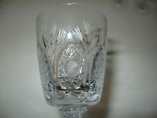 5 Clear & Frosted CUT GLASS CRYSTAL Stemmed CORDIAL GLASSES Tree Stars