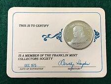 1975 Franklin Mint Collectors Society Silver Member Coin