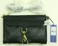 Rebecca Minkoff Mini Mac Black / Light Gold Hardware Crossbody HS16IFCX01 - NEW