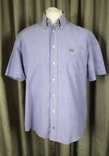 Ralph Lauren Polo Jeans Co. 100% Algodón Lila botones en el cuello Camisa-Grande