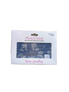 NEW Vera Bradley Pleated Face Mask w/ adjustable elastic