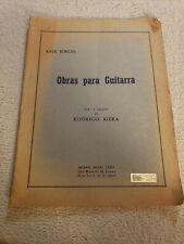 Raul Borges Obras Para Guitarra 1964 Vintage Guitar Sheet Music Rodrigo Riera