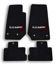 2014-2015 Jeep Cherokee SRT 8 Black Velourtex Carpet - 4pc Mat Set - SRT 8 Logo