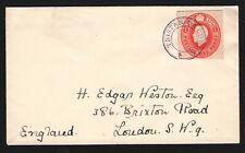 Tristan da Cunha: GB postal stationery cutout with Type III cancel to GB