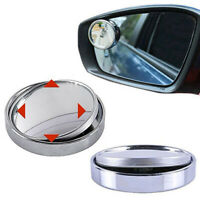 1x Car Blind Spot Round Stick-On Side View Rearview Mirror Wide Angle Convex