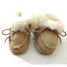 Baby Sheepskin Boots Booties Eskimo Leather Shoes Moccasins 12 - 18 months