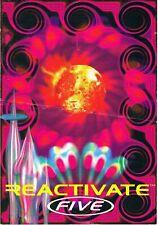 REACTIVATE 5 Rave Flyer Flyers A5 1992 Promotional Album Release flyer