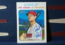 2020 Topps Heritage Minors Real One Auto #d /50 White #ROA-WW Will Wilson Owlz