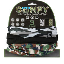 Oxford Comfy Neck Tube Breathable Wind Resistant Camo Lightweight 3 Pack