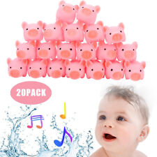 20PCS Adorable Safety Vinyl Toy Teether Rubber Pig Baby Bath Toys Shower Toys