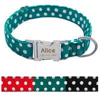 Collar Nailon para perro grande suave Personalizable Collar grabado para perro