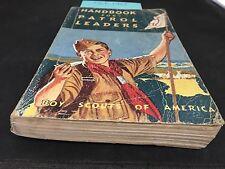 BOY SCOUT HANDBOOK FOR PATROL LEADERS 1961 VINTAGE BOY SCOUT BOOK PATROL LEADERS