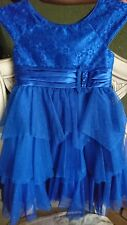Jona Michelle Sz 6 Girls Dress royal blue lace amazing boutique holiday dress!