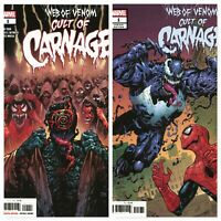 Web of VENOM Cult of CARNAGE #1 and #1 Variant Cover Marvel Comics 2019
