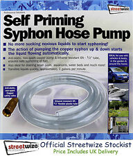 "Streetwize Self Priming Syphon (Siphon) Pump 1/2"" for Draining Fuel Water Petrol"
