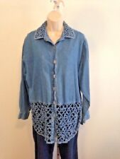 New Directions Denim Tunic M Open Weave