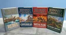 *SIGNED* Bernard Cornwell, The Starbuck Chronicles (4 Books) 1st Edition + Print