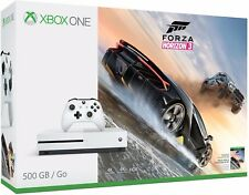 NEW Microsoft Xbox One S Forza Horizon 3 (Three)  Bundle 500GB White Console