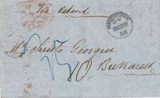 ROMANIA ENGLAND 1858 ENTIRE LETTER FROM MANCHESTER TO BUKAREST