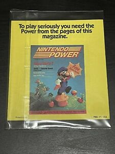 Nintendo NES Nintendo Power Offer Insert To Play Serious Mario PMG-PT-USA Yellow