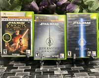 Xbox Star Wars lot 3 KOTOR Platinum Hits, Jedi Knights Academy & Outcast