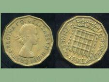 GREAT BRITAIN - ROYAUME UNI   three pence 1961  ( etat )