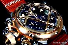 Mens Invicta Russian Diver Nautilus Chronograph Rose Gold Black Swiss Watch New