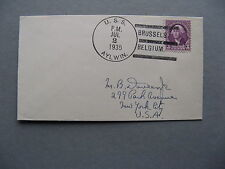 USA, shipsmail cover USS Aylwin, Brussels Belgium