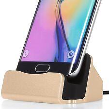 FanTEK Micro USB Charging Dock for Samsung Galaxy S5, BLU Vivo 5R, Gold xbx-01