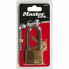 Master Lock 140EURDLH 40mm Brass Padlock Long Shackle