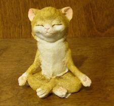 Top Land  Enchanted Story Fairy Garden #4410 YOGA CAT in MEDITATION