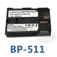 Battery for Canon BP-511 EOS 10D 20D 30D 40D 5D 300D D300 D60 ZR-90 ZR-85 ZR-80