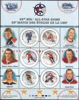 #1838 NHL ALL STARS Souvenir - Canada - 2000 -  MNH - superfleas - Gretzky ++