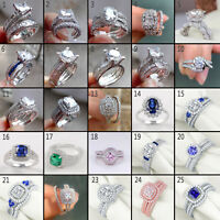 Newshe Wedding Band Engagement Ring Bridal Set For Women 925 Sterling Silver Cz