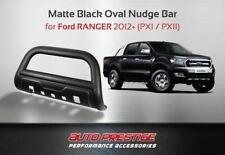 Ford Ranger 2012-2018, Matte Black 3.5″ Oval Nudge bar w/skid plate