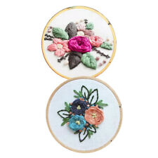 2Set Embroidery Starter Kits Handmade Flower Cross Stitch DIY for Beginner