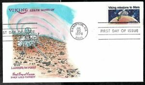1978 VIKING Mission To MARS FDC #1759 - Cachet by Doris GOLD