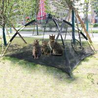 Portable Pet Puppy Cat Happy Habitat Playpen Indoor Outdoor Patio dog Mesh Tent