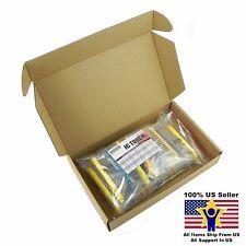 50value 2000pcs 1/2W Metal Film Resistor Assortment Kit US Seller KITB0077